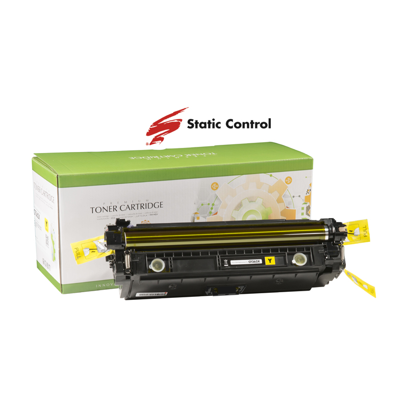 картридж HP CLJ CF362X (508X) Static Control 9.5k yellow