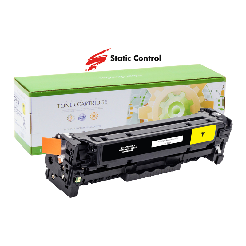 картридж HP CLJP CF382A (312A) Static Control 2.7k yellow