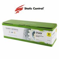 картридж HP CLJP CF542X (203X) Static Control 2.5k yellow